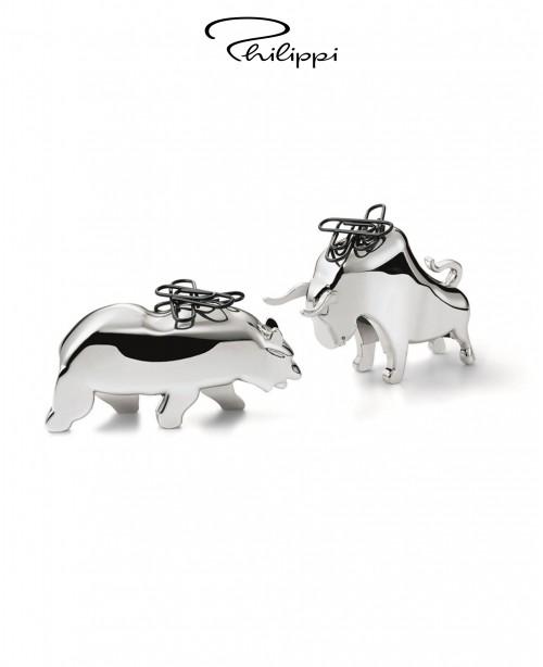 Bull & Bear Paperclip holder (Philip...