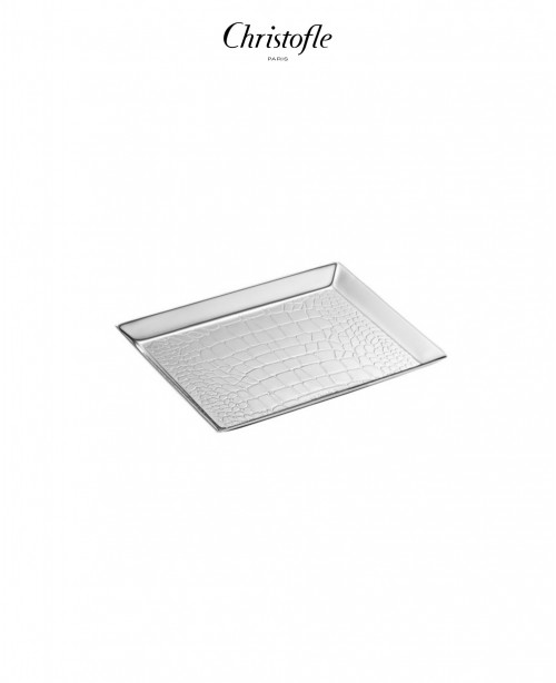 Croco D'Argent Business Card Holder (Chr...