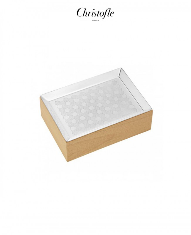 Hexagone Business Card Holder Box (Christofle)