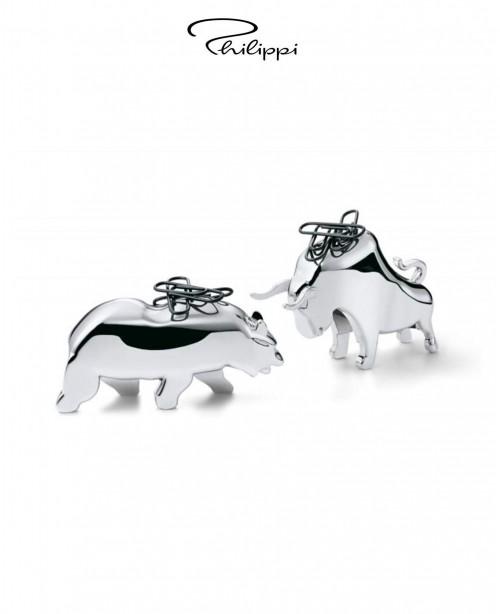 Bull and Bear Paper Clip Holder (Philipp...