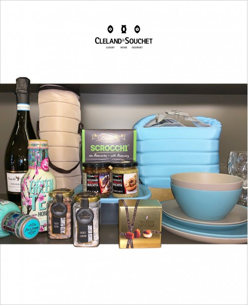 Prosecco Blue Picnic Gift Hamper For 2