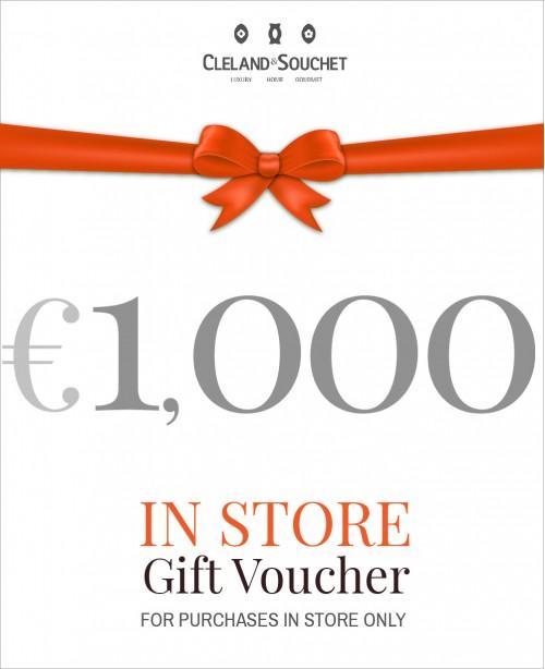 Gift Voucher €1000 (In-Store)
