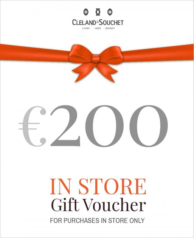 Gift Voucher €200 (In-Store)