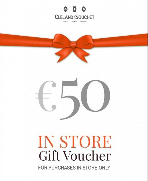 Gift Voucher €50 (In-Store)