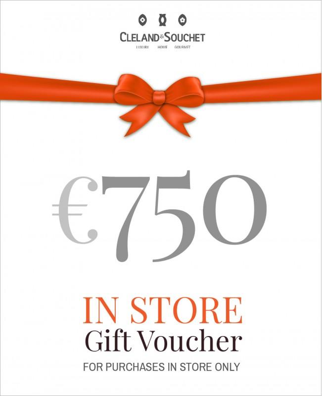 Gift Voucher €750 (In-Store)