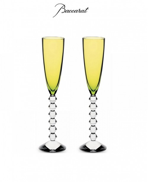 Vega Set of 2 Flutes - Moss Green (Bacca...