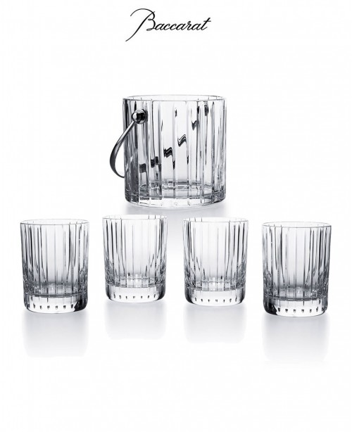 Harmonie Ice Bucket & 4 Whisky Glass...