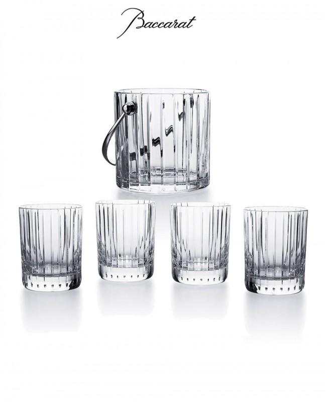 Harmonie Ice Bucket & 4 Whisky Glass...