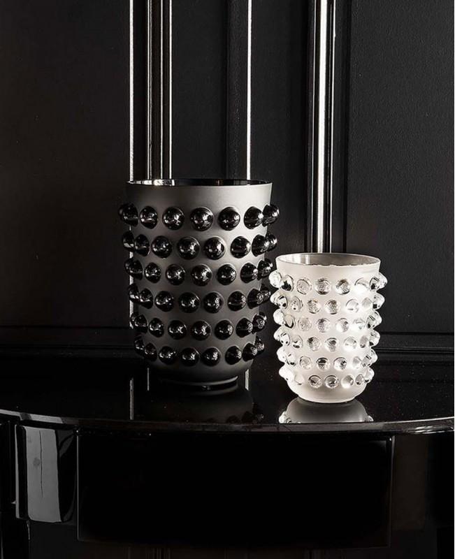 Black Mossi Vase - Large  (Lalique)
