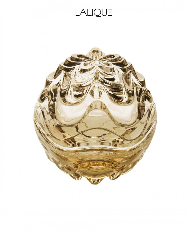 Gold Lustre Crystal Vibration Box (Lalique)