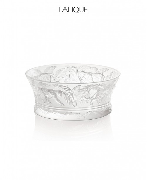 Jungle Coupe Clear Crystal Bowl (Lalique...