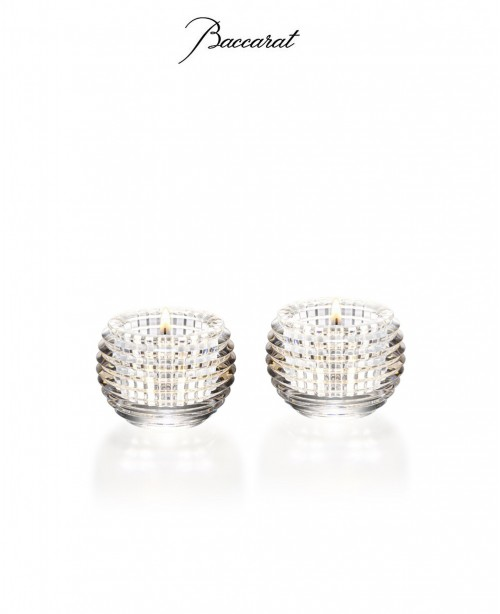 Set of 2 Eye Votive Clear (Baccarat)