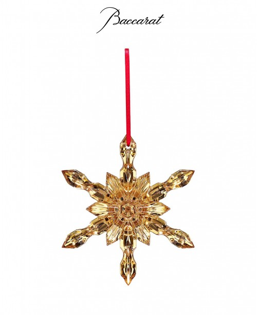 Noel Snow Flake Gold (Baccarat)