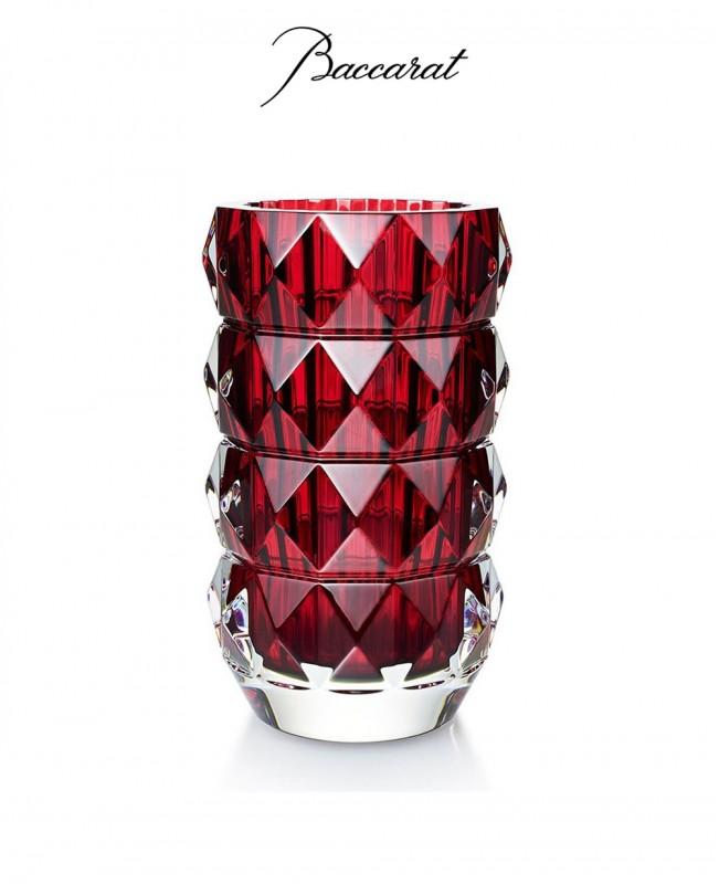 Louxor Red Round Vase (Baccarat)
