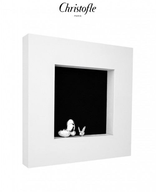 BEEBEE Wooden Frame with Silver Bee (Chr...