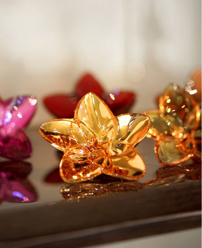 Bloom Collection Crystal Glass Ornaments...