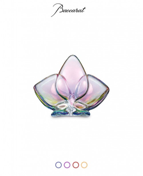 Lucky Orchid Crystal Glass Ornaments (Ba...