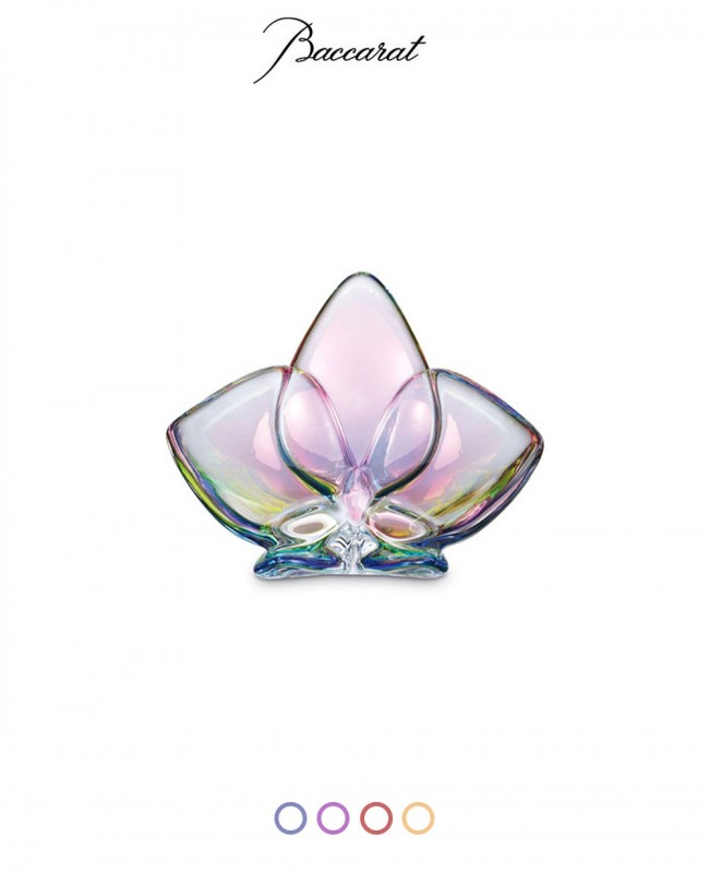 Lucky Orchid Crystal Glass Ornaments (Baccarat)