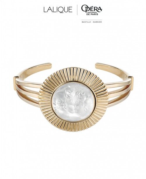 La Baiser Crystal Bangle  - Vermeil (Lal...