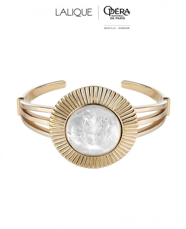 La Baiser Crystal Bangle  - Vermeil (Lalique)