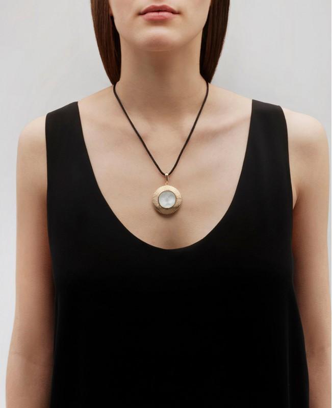 La Baiser Crystal Pendant - Vermeil (Lalique)