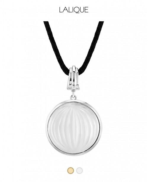 Clear Crystal Pendant Vibrante - Vermeil...