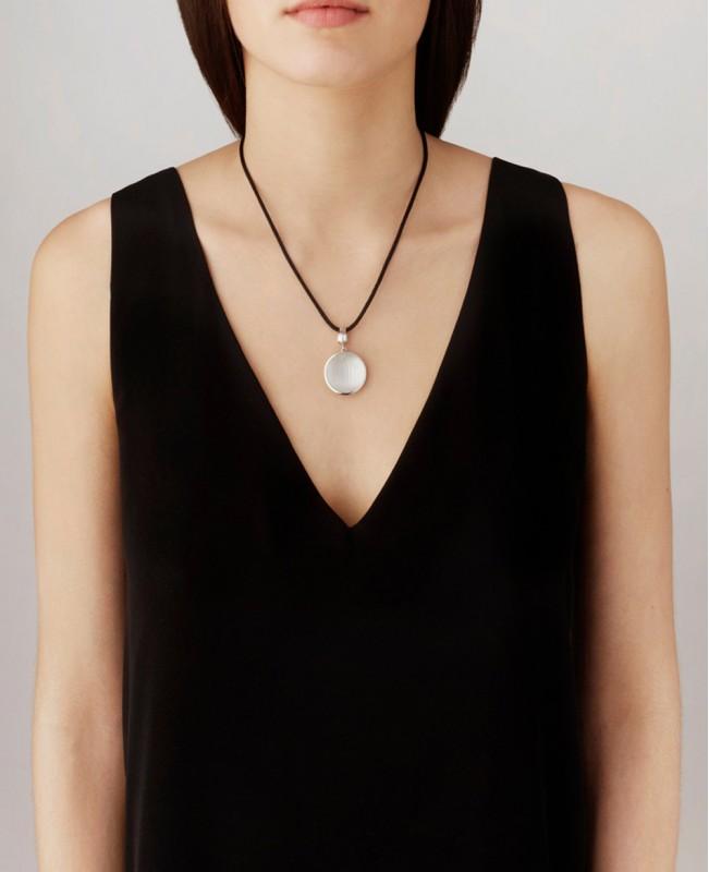 Clear Crystal Pendant Vibrante - Vermeil or Silver (Lalique)