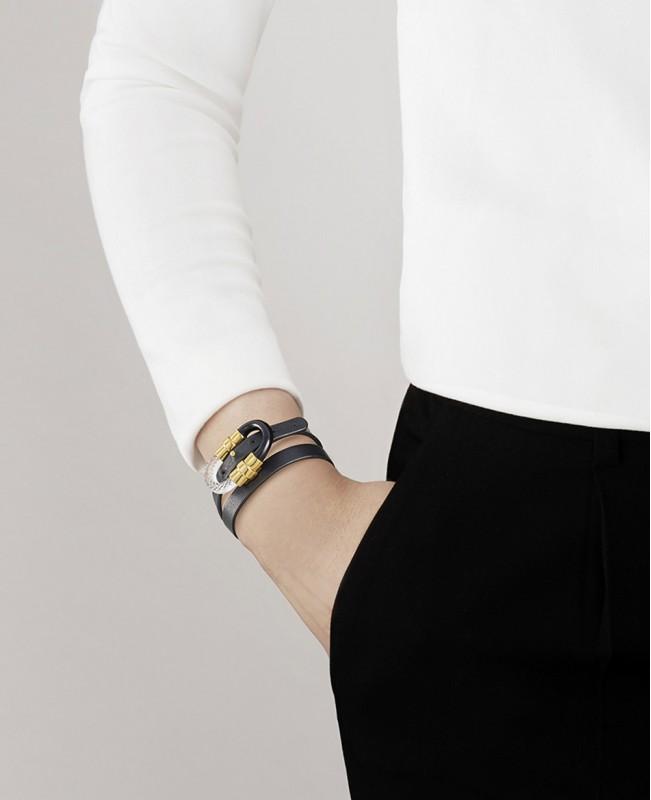 1927 Double Wrap Crystal Bracelet - Gold (Lalique)