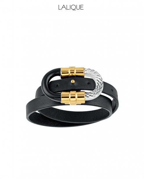 1927 Leather double wrap Gold Bracelet (...