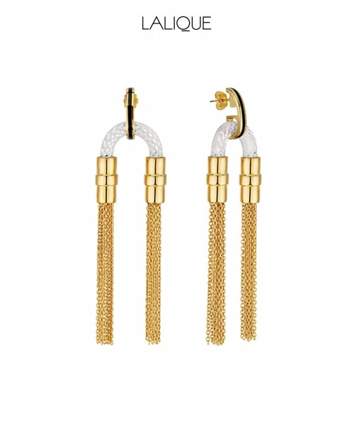 1927 Fantasie Crystal Earrings - Gold (L...