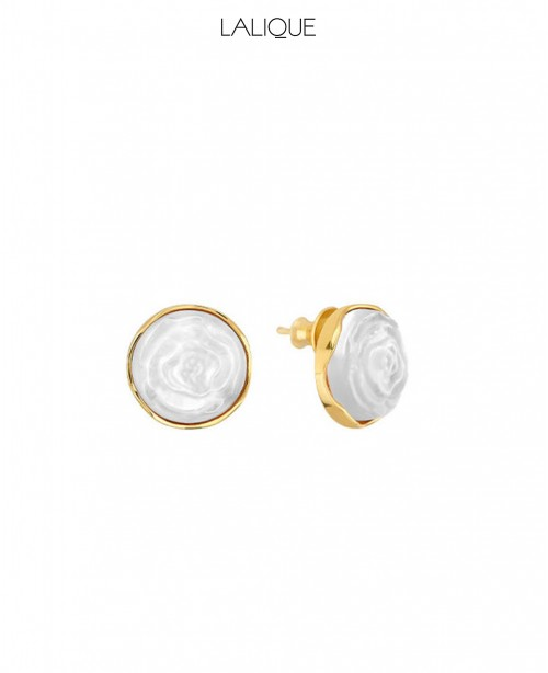 Pivione White Earrings (Lalique)