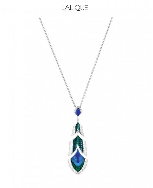 Blue Pendant & Chain (Lalique)