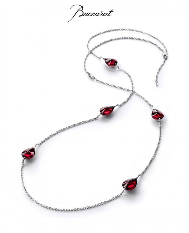 Fleurs de Psydelic Long Necklace with Ro...