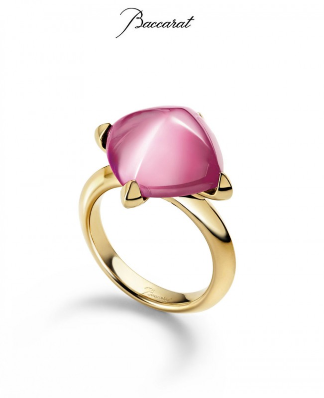 Medicis Ring Rose Crystal Gold  (Baccarat)
