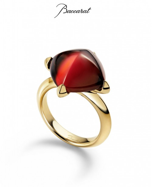 Medicis Ring Red Crystal & Gold  (Ba...