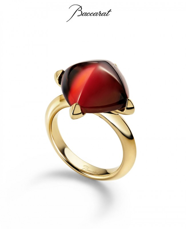 Medicis Ring Red Crystal & Gold  (Baccarat)