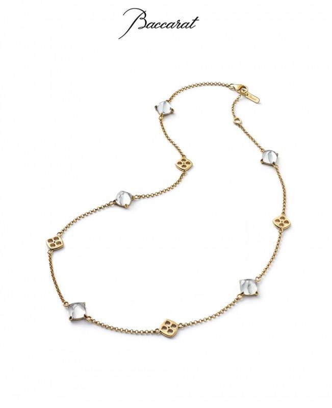 Medicis Necklace Clear Crystal & Gol...
