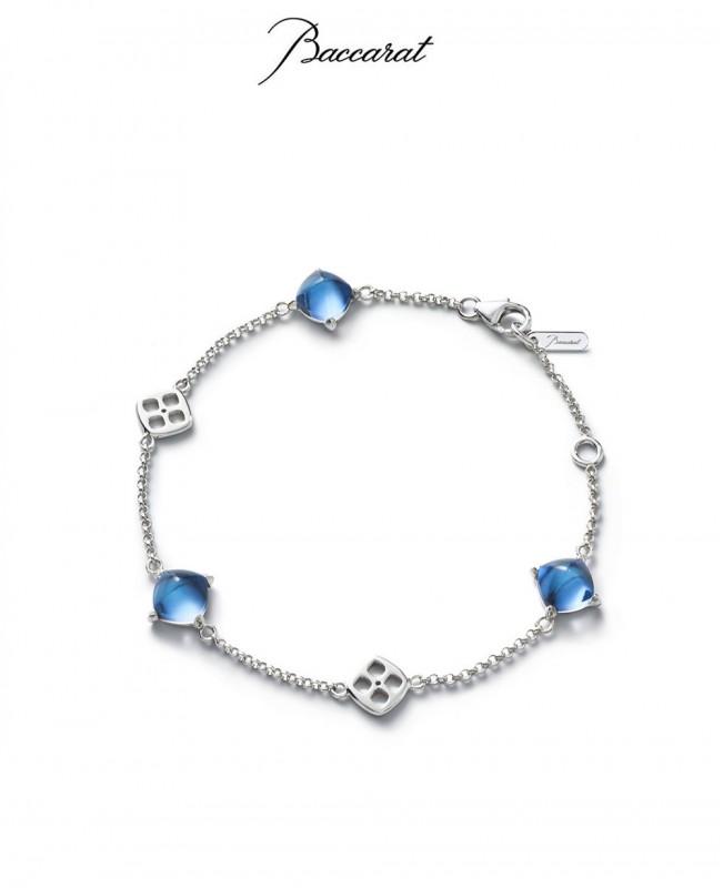Medicis Bracelet Blue Crystal & Silver Chain (Baccarat)