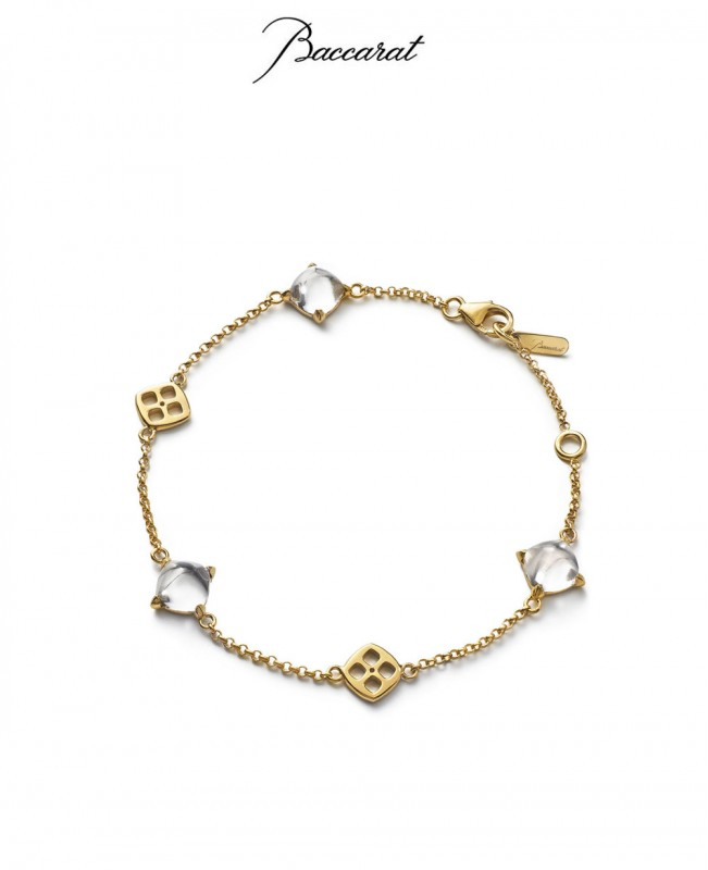 Medicis Bracelet Clear Crystal & Gold Chain (Baccarat)