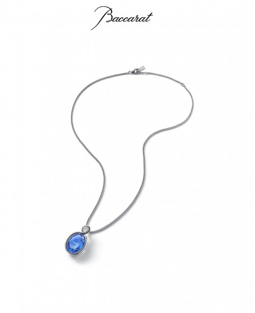 Croise Pendant & Chain Blue Crystal ...