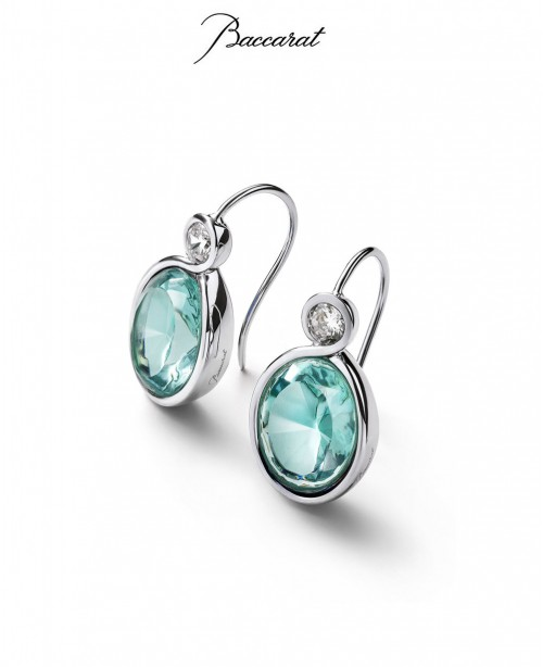 Croise Earrings Turqiouse Crystal with S...
