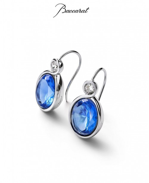Croise Earrings Blue Crystal with Silver...