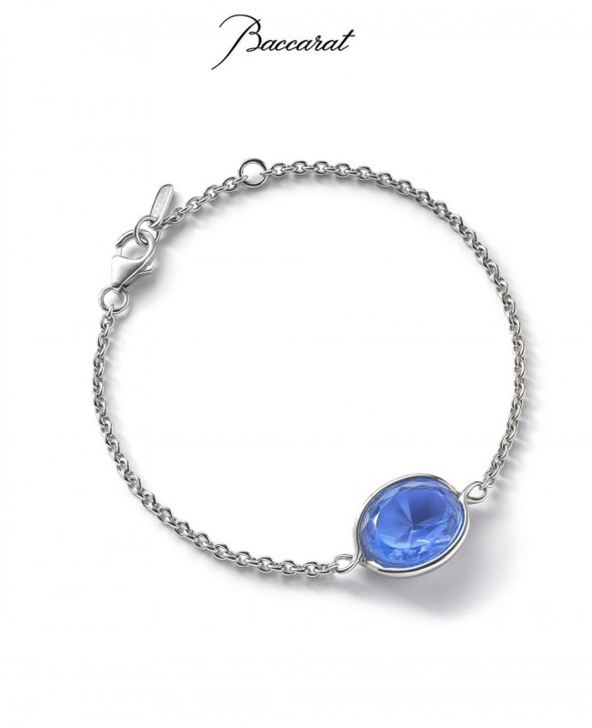 Croise Chain Bracelet Blue Crystal with Silver (Baccarat)
