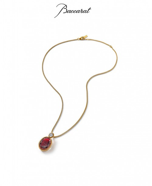 Croise Pendant & Chain Red Crystal w...