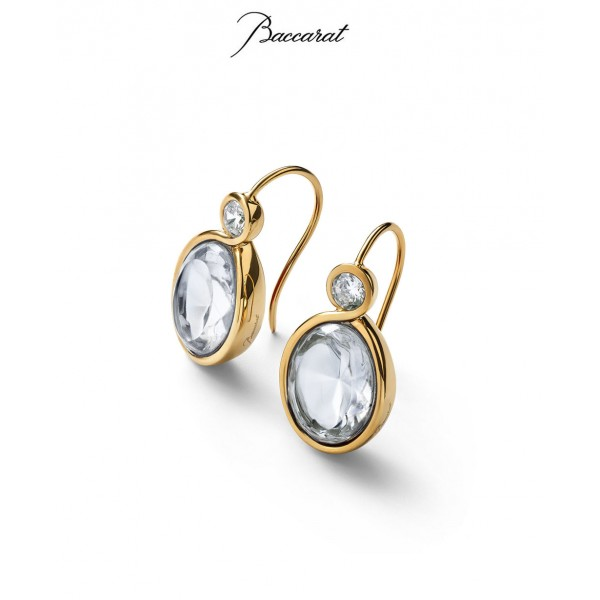 Croise Earrings Clear Crystal with Gold ...