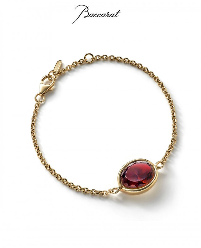 Croise Chain Bracelet - Red Crystal with Gold (Baccarat)