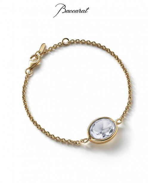 Croise Chain Bracelet Clear Crystal with...