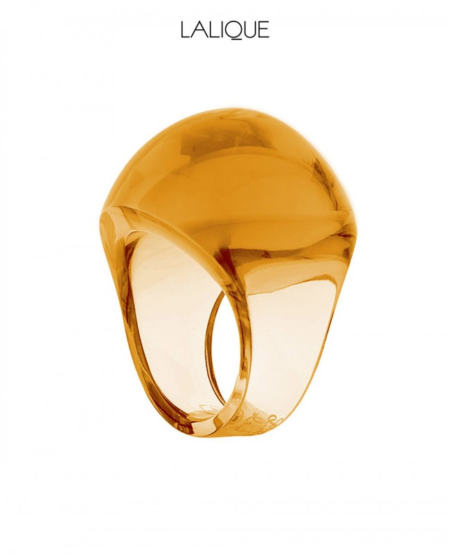 Amber Cabochon Ring (Lalique)