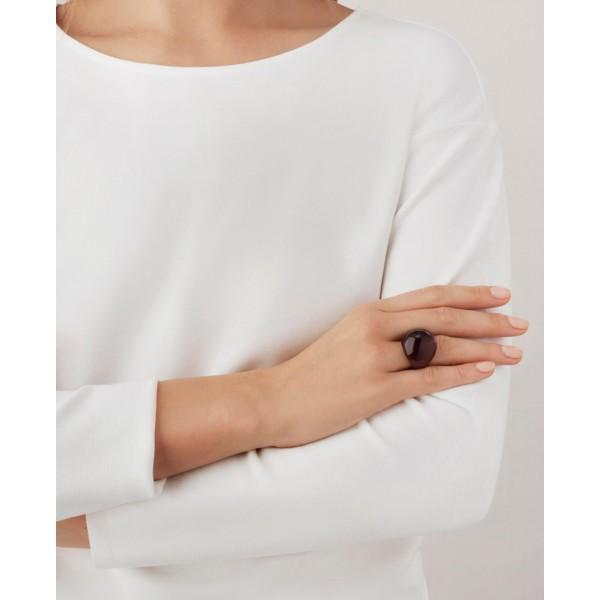 Purple Cabochon Ring (Lalique)