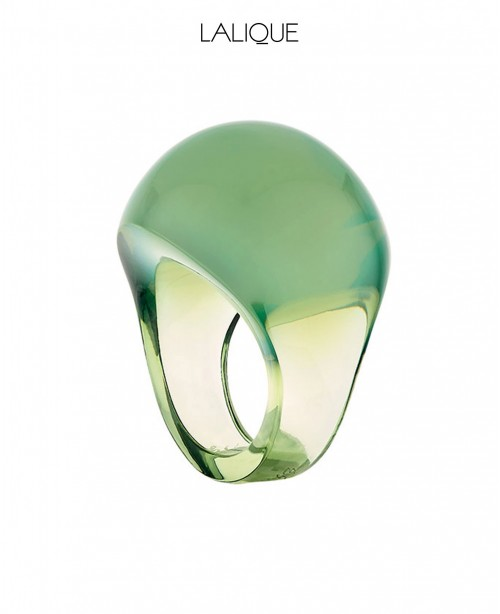 Antinea Green Cabochon Ring (Lalique)